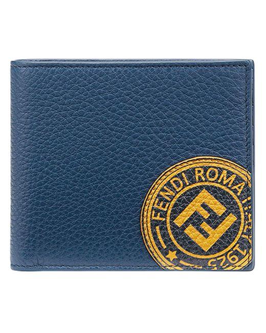 メンズ Fendi 二つ折り 財布 Blue
