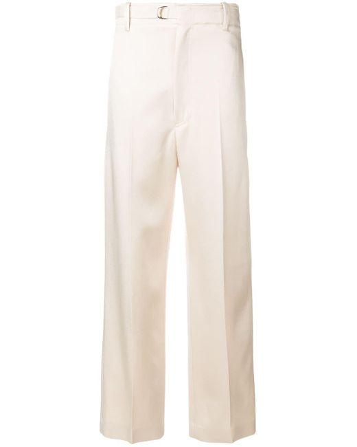 JOSEPH Pantalones rectos de talle alto de mujer de color neutro