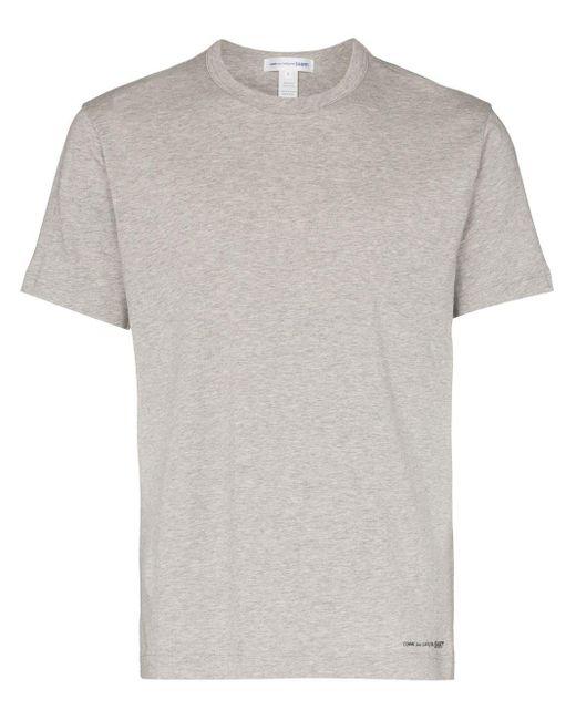 メンズ Comme des Garçons ロゴ Tシャツ Gray