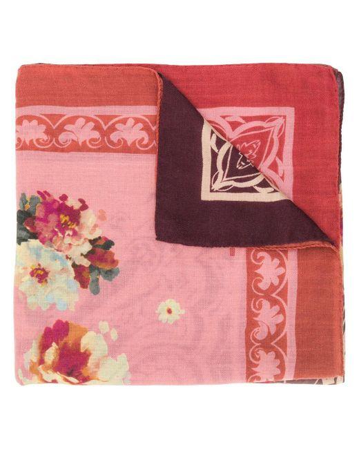 Etro フローラル スカーフ Pink