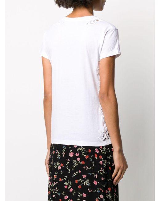 P.A.R.O.S.H. カットアウト Tシャツ White