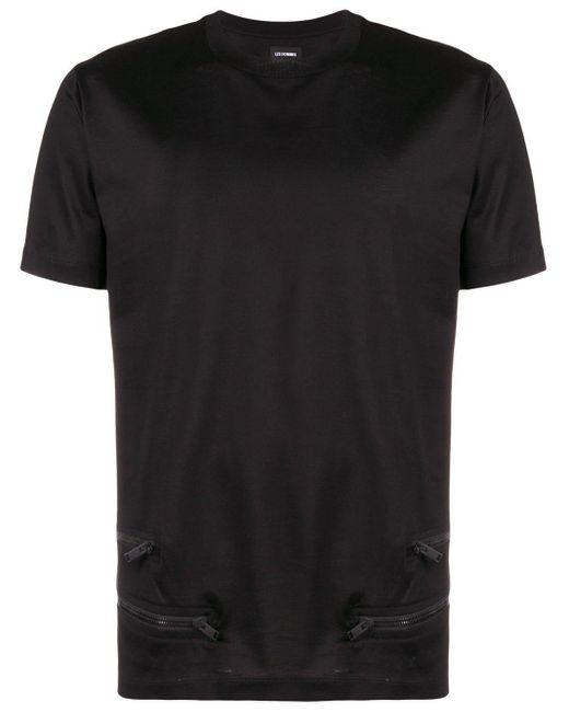 メンズ Les Hommes Zipper Detail T-shirt Black
