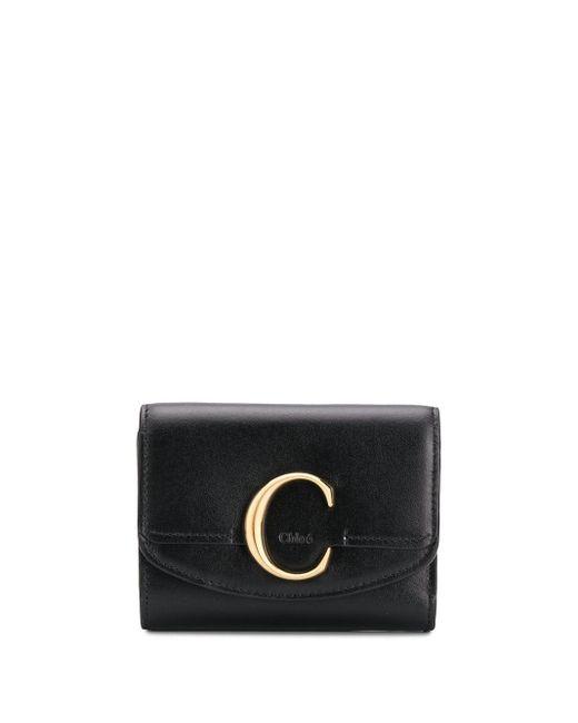 Бумажник Размера Мини С Металлическим Логотипом Chloé, цвет: Black