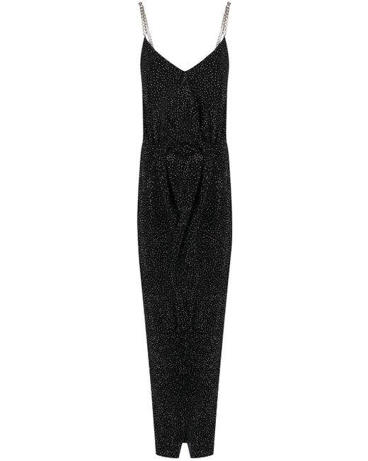 Balmain ラインストーン ドレス Black