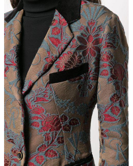 Парчовый Блейзер С Цветочным Узором Uma Wang, цвет: Brown