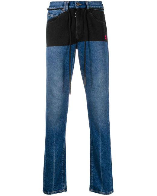 メンズ Off-White c/o Virgil Abloh ドローストリング スリムジーンズ Blue