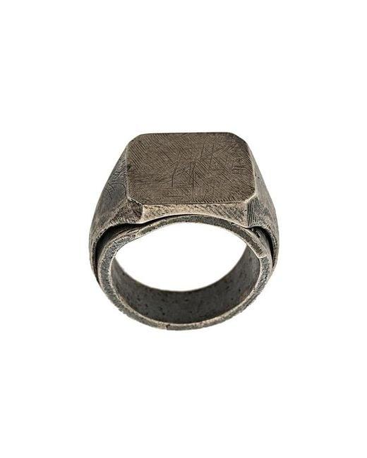 Tobias Wistisen - Metallic Flat Ring for Men - Lyst