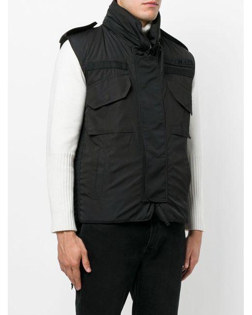 メンズ KTZ レースアップ装飾 パデッドベスト Black