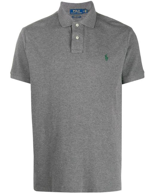メンズ Polo Ralph Lauren コントラストロゴ ポロシャツ Gray
