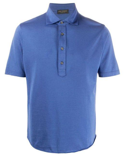 メンズ Dell'Oglio ショートスリーブ ポロシャツ Blue