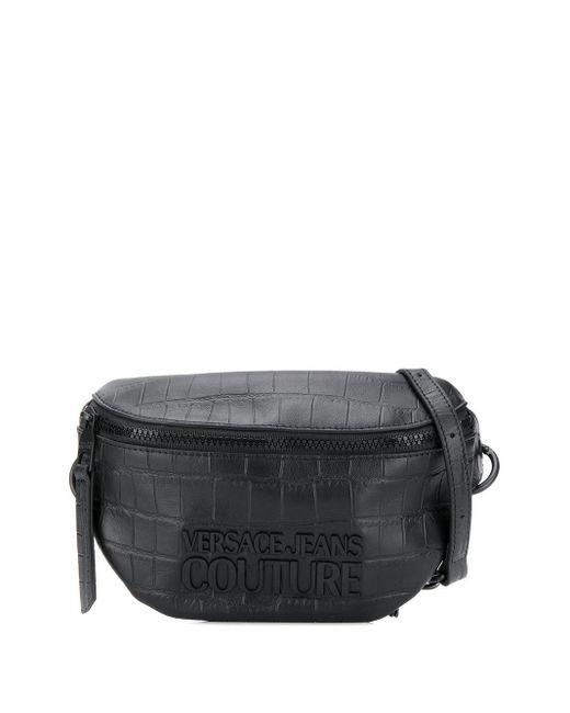 Versace Jeans エンボスロゴ ベルトバッグ Black