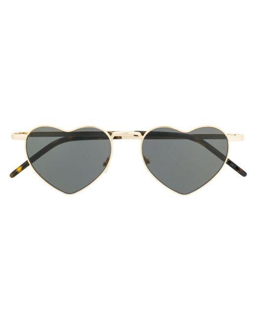 Солнцезащитные Очки В Оправе В Форме Сердца Saint Laurent, цвет: Black