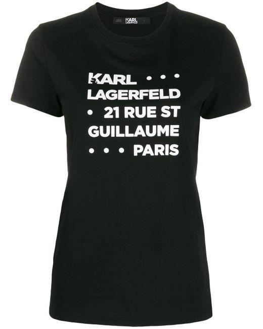 Karl Lagerfeld ロゴ Tシャツ Black