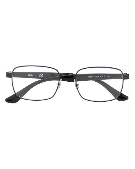 メンズ Ray-Ban スクエア 眼鏡フレーム Black