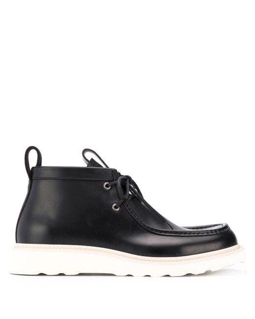 Ботинки На Шнуровке Bottega Veneta для него, цвет: Black