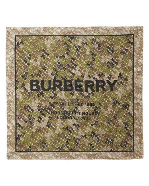 Burberry Horseferry シルクスカーフ Green