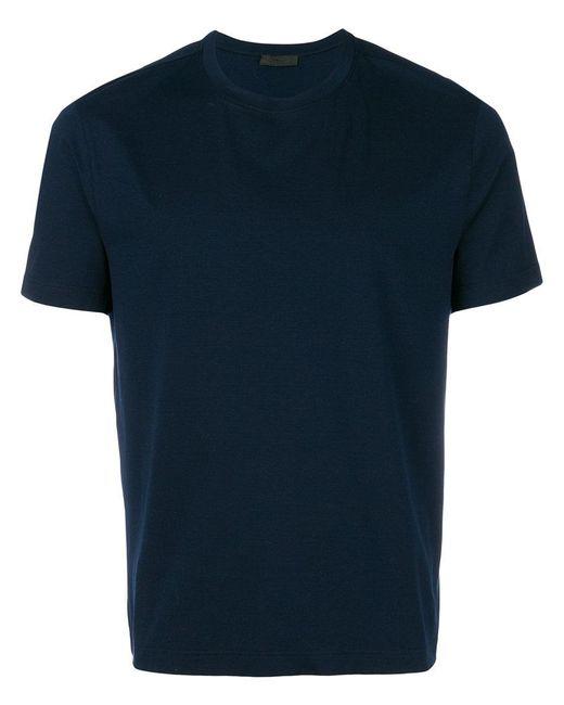 Prada - Blue Classic Crew Neck T-shirt for Men - Lyst