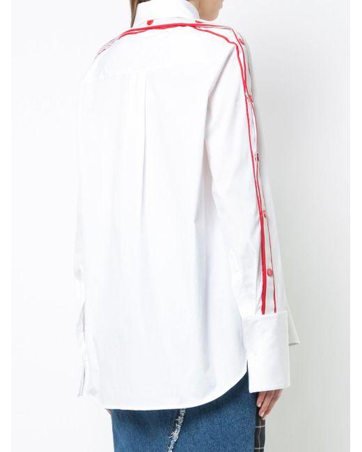 Monse Mon ラグラン シャツ White