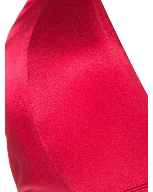 Fleur du Mal Luxe トライアングルブラ Red