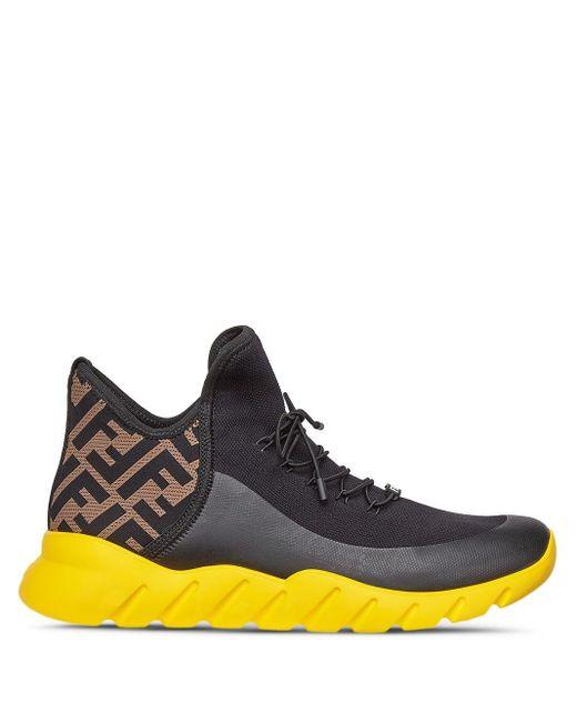 Кроссовки С Логотипом Ff Fendi для него, цвет: Black