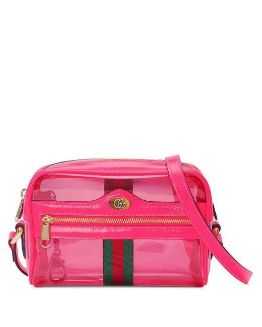 Mini sac à bandoulière Ophidia Gucci en coloris Pink