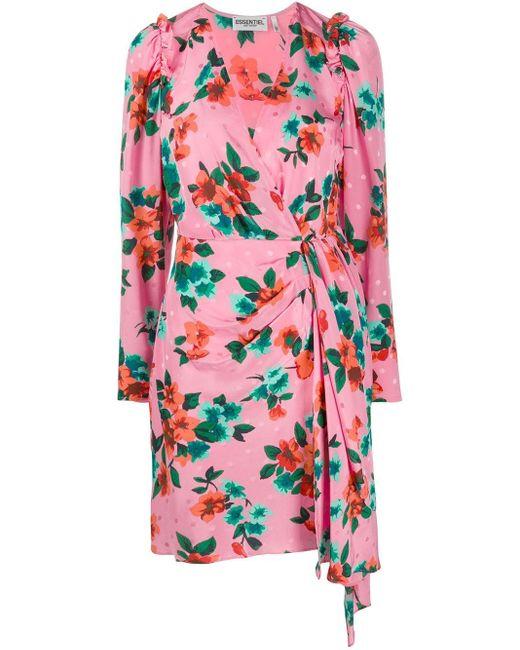 Essentiel Antwerp フローラル ドレス Pink