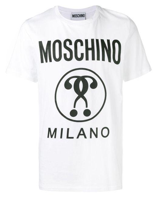 メンズ Moschino ロゴ Tシャツ Multicolor