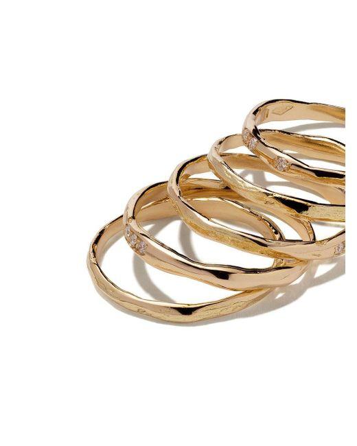 Комплект Из Пяти Золотых Колец С Бриллиантами Wouters & Hendrix, цвет: Metallic