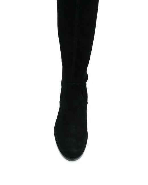 Однотонные Ботфорты Stuart Weitzman, цвет: Black