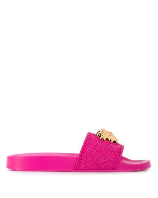 Versace メデューサ フラットサンダル Pink