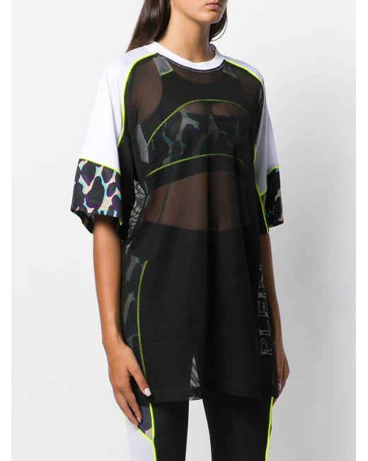 Philipp Plein T-shirt à effet de transparence femme de coloris noir