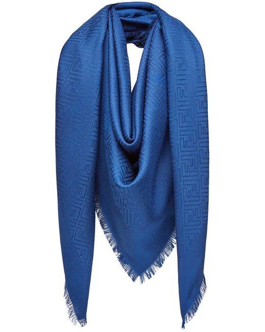 Fendi モノグラム スカーフ Blue