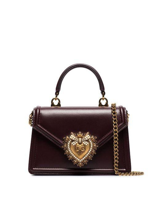 Dolce & Gabbana Red Small Devotion Tote Bag