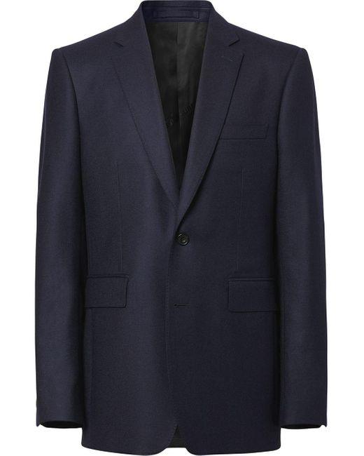 メンズ Burberry テーラード ジャケット Blue