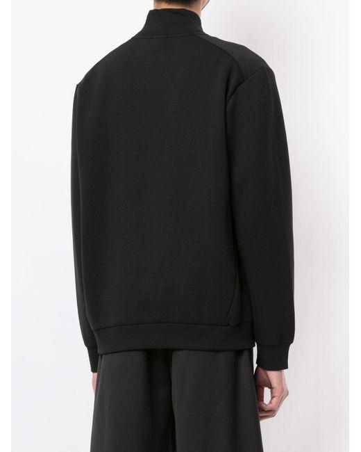 メンズ BOSS by Hugo Boss ジップアップ スウェットシャツ Black