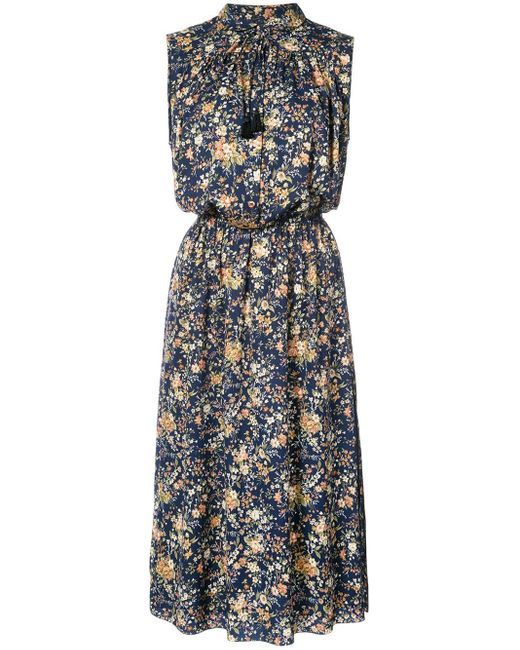 Adam Lippes Blue Patterned Dress