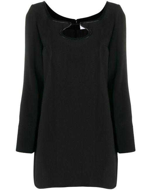 Courreges カットアウト ドレス Black