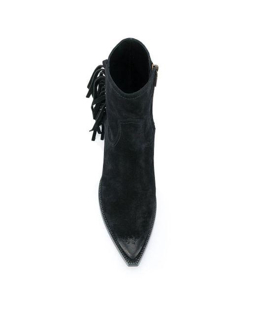 Ботинки С Бахромой Saint Laurent для него, цвет: Black