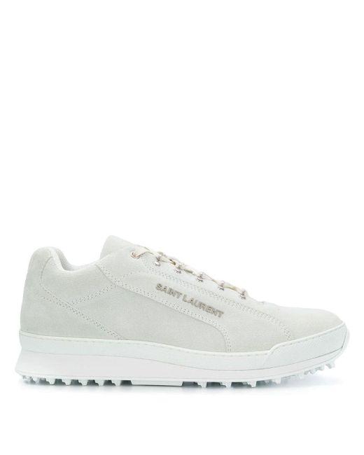 Saint Laurent White Jump Sneakers for men
