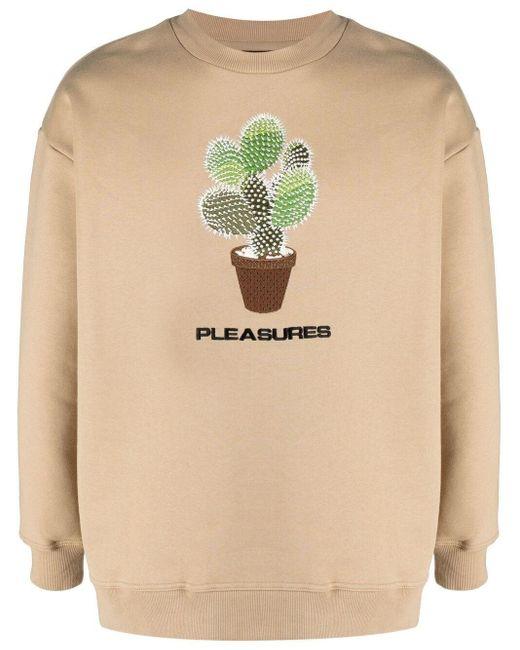 メンズ Pleasures エンブロイダリー スウェットシャツ Natural