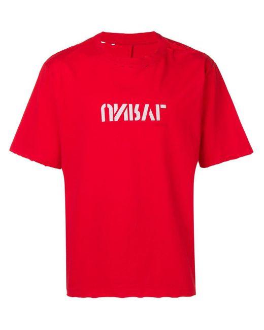 メンズ Unravel Project スローガン Tシャツ Red