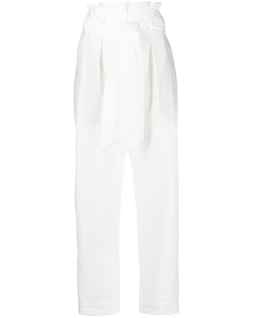 Брюки С Завышенной Талией Brunello Cucinelli, цвет: White