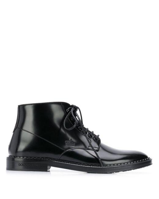 Ботинки На Шнуровке Dolce & Gabbana для него, цвет: Black