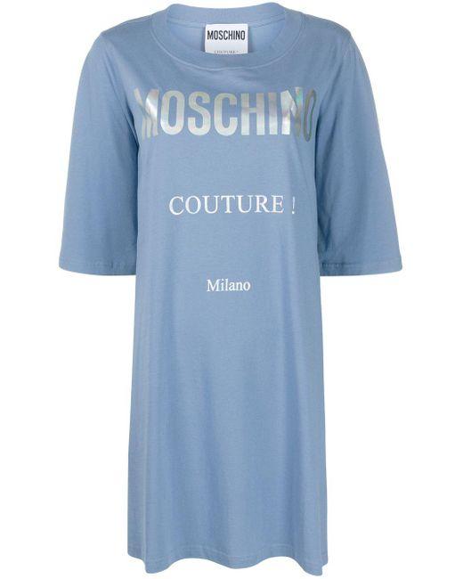 Moschino ロゴ Tシャツワンピース Blue