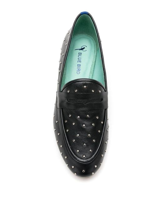 Blue Bird Shoes スタッズ ローファー Green