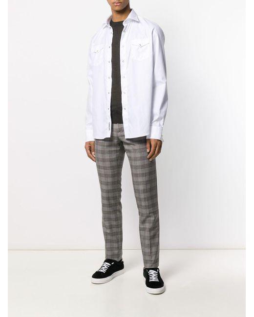 Chemise classique Dell'Oglio pour homme en coloris White