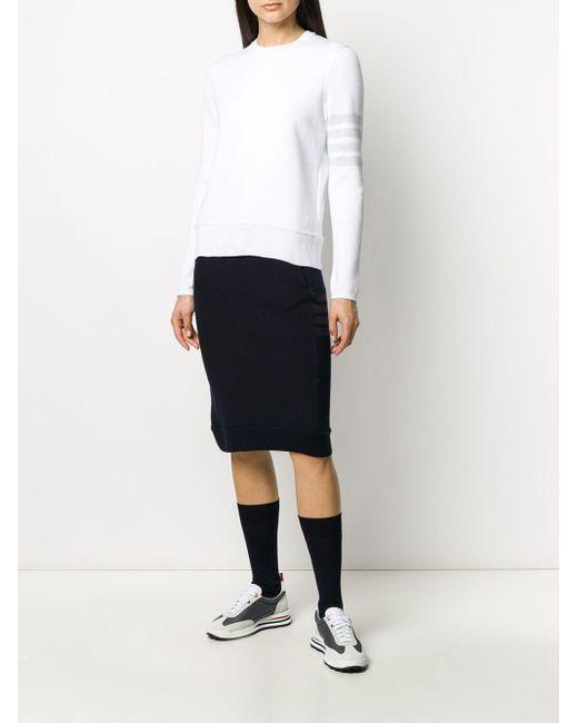 Thom Browne 4bar スウェットシャツ White