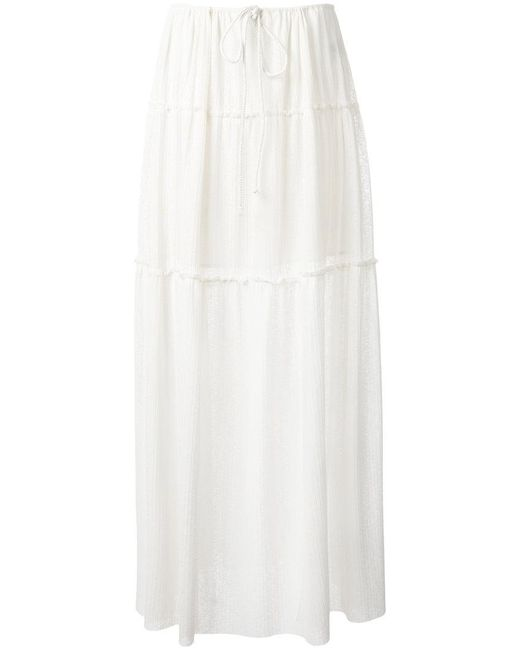 See By Chloé - White Tie-waist Skirt - Lyst