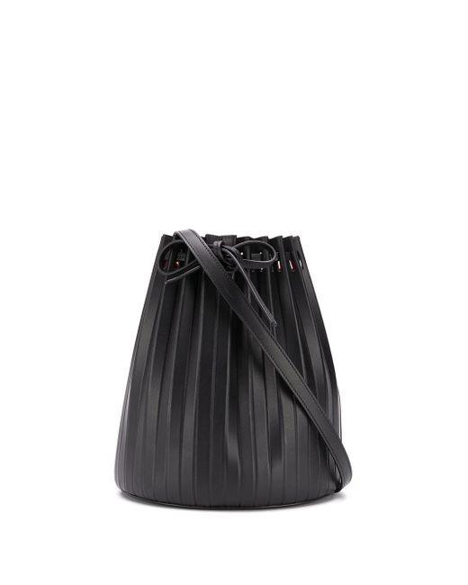 Sac seau à design plissé Mansur Gavriel en coloris Black