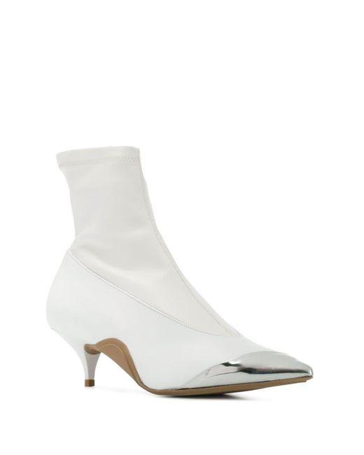 N°21 アンクルブーツ White